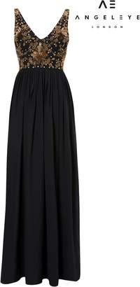 Next Womens Angeleye Embroidered Detail Maxi Dress