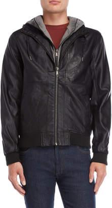 Bellfield Black Porto Hooded Jacket