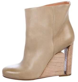 Maison Margiela Leather Ankle Wedge Boots