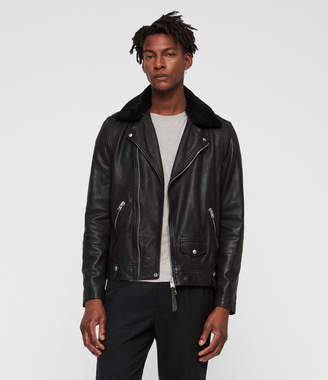 AllSaints Brett Leather Biker Jacket