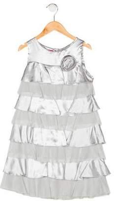 Biscotti Girls' Sleeveless Tiered Dress