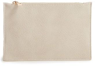 Bp. Faux Leather Zip Pouch - Grey $15 thestylecure.com