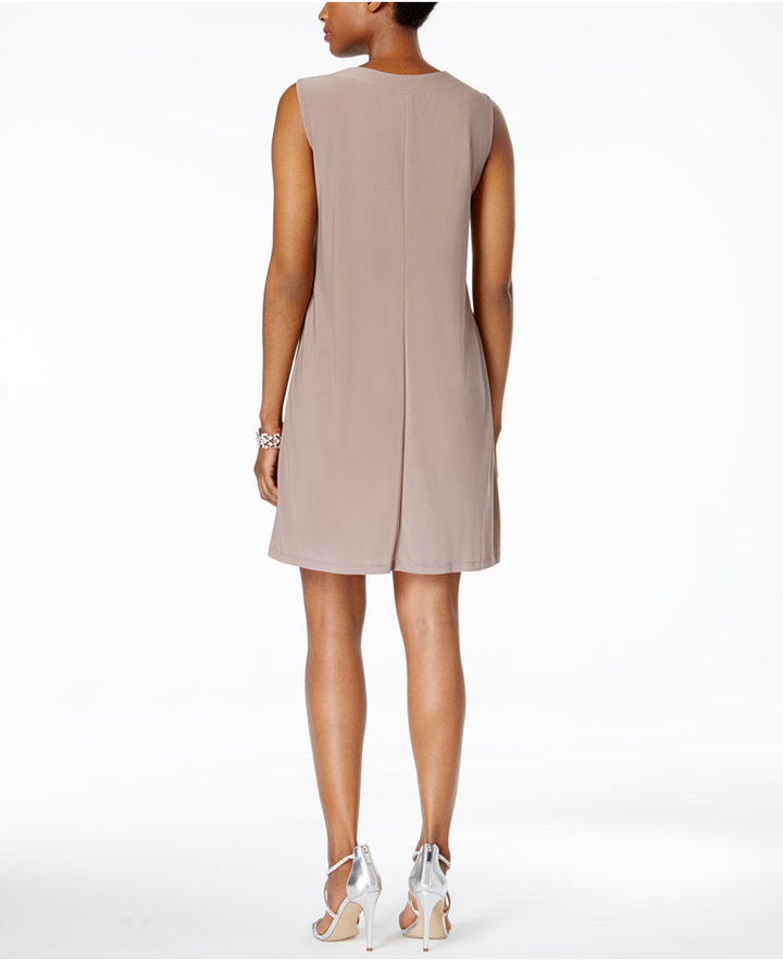 R & M Richards Embellished Dress and Illusion Duster Jacket 7