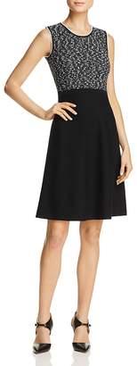 Paule Ka Tweed A-Line Knit Dress