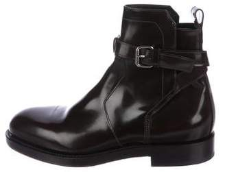Pierre Hardy Glazed Leather Ankle Boots