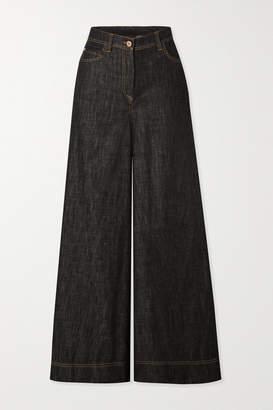 Brunello Cucinelli High-rise Wide-leg Jeans - Blue