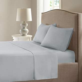 Comfort Spaces: Sheets Set - For Moisture Wicking- 4 Piece - Queen - Grey - Incl. Flat Sheet
