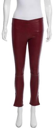 The Row Mid-Rise Leather Pants