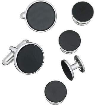 Jan Leslie Link Up Circle Cufflinks and Tuxedo Studs