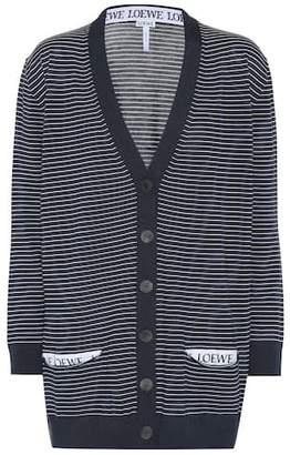 Loewe Striped wool cardigan