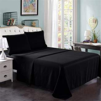 """+Hotel by K-bros&Co Unbranded Hotel Luxury Bed Sheets - 3 Pieces - Extra Soft - 14"""" Deep Pocket Brushed Microfiber 2200 Thread Count Wrinkle Resistant Bedding Sheets Twin,Black"""