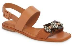 Tory Burch Delaney Embellished Double Strap Sandal