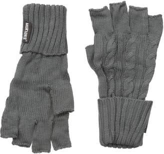 Muk Luks Men's Cable Knit Fingerless Gloves