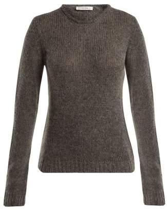 The Row Droi Cashmere Blend Sweater - Womens - Light Grey