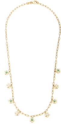 Ark Mini Gateways 18K Gold, Diamond And Emerald Necklace