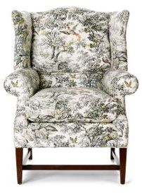 Josef Wingback Chair, Toile