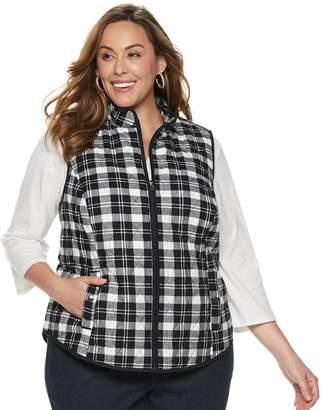 077080d1994 Croft   Barrow Plus Size Classic Quilted Vest