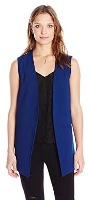 Paris Sunday Women's Sleeveless Longline Crepe Vest