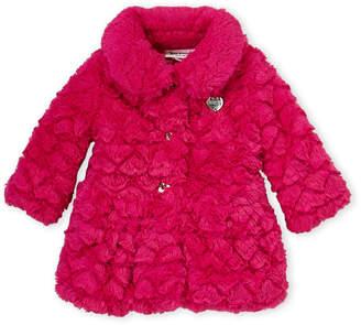 Juicy Couture Toddler Girls) Hot Pink Faux Fur Jacket