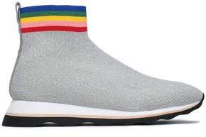 Loeffler Randall Stretch-Knit High-Top Sneakers