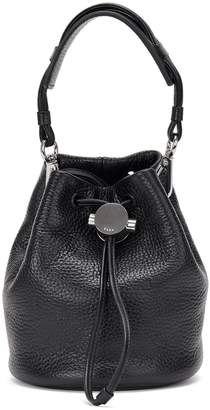 Kara Baby Drawcord Leather Bucket Bag