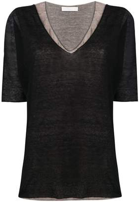 Fabiana Filippi loose-fit layered T-shirt