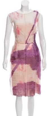 Dolce & Gabbana Printed Silk Dress w/ Tags
