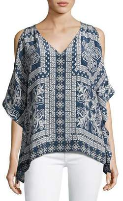 Tolani Serena Open-Shoulder Printed Tunic, Plus Size