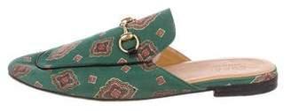 Gucci Princetown Satin Horsebit Slippers