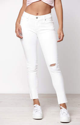 Levi's White 711 Skinny Ankle Jeans