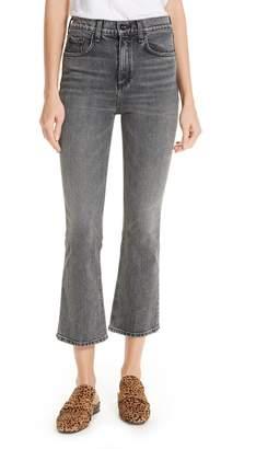 Rag & Bone Hana Crop Kick Flare Jeans