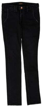 Chimala Low-Rise Straight-Leg Jeans