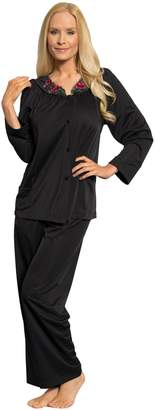Shadowline Women's Plus-Size Petals Long Sleeve Pajama