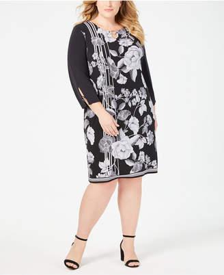 JM Collection Plus & Petite Plus Size Printed Dress