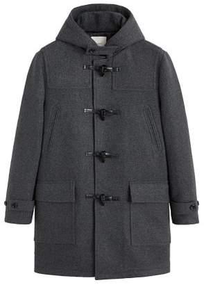 Mango Man MANGO MAN Multi-pocket wool-blend duffle coat