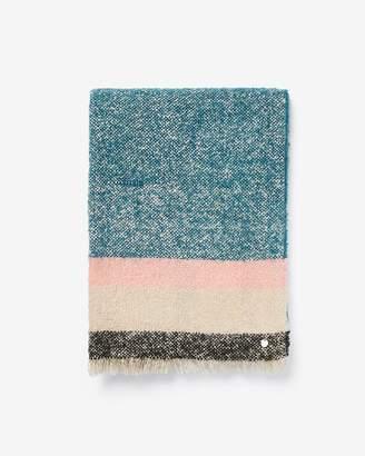 Express Marled Stripe Blanket Scarf