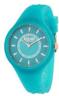 Versace 39MM Fire Island Silicone Strap Watch