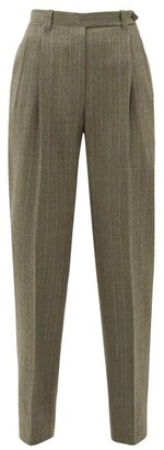 Giuliva Heritage Collection The Cornelia Pinstriped Wool Trousers - Womens - Grey Multi