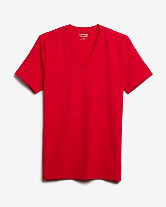 Express Flex Stretch Deep V-Neck Tee