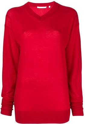 Helmut Lang V-neck balloon sleeve sweater