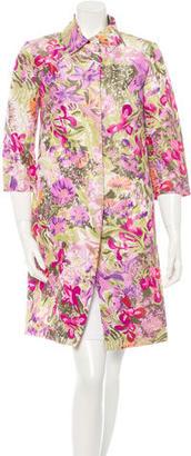 Dolce & Gabbana Floral Watercolor Coat