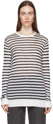 Alexander Wang Black and White Striped T-Shirt