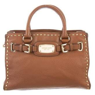 MICHAEL Michael Kors Metallic-Accented Leather Satchel