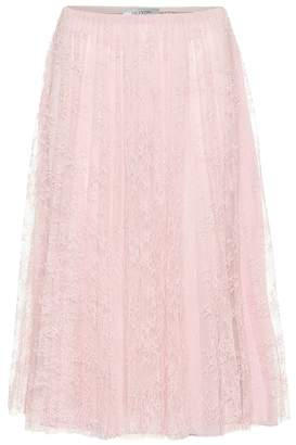 Valentino Chantilly lace midi skirt