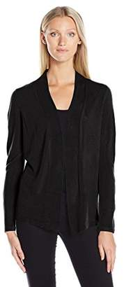 Sag Harbor Women's Long Sleeve Open Front Cardigan