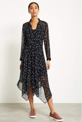 Next Womens Mint Velvet Black Star Print Trapeze Dress