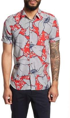 Ted Baker Sohot Trim Fit Floral Sport Shirt