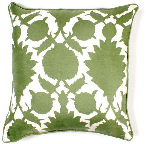 Thomas Paul Flock Silk Twill Pillow - 18 X 18