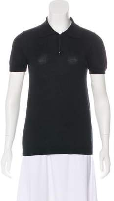 Dolce & Gabbana Zip-Up Polo Top