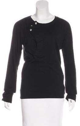 John Galliano Long Sleeve Scoop Neck Top